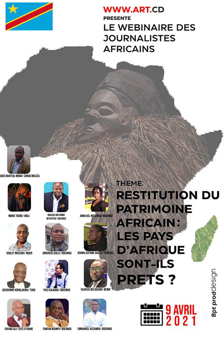 Webinaire sur la restitution des biens culturels aux pays d'Afrique : Des journalistes africains discutent sur les défis liés au processus